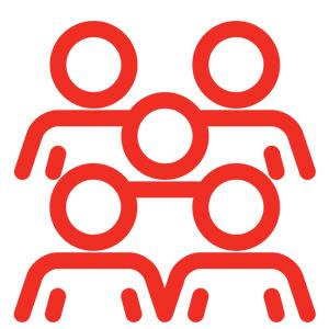 Adecco uitzenden icoon medewerker of ploeg